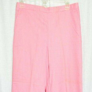 Alfred Dunner Stretch Cape May Pink Trouser Pants
